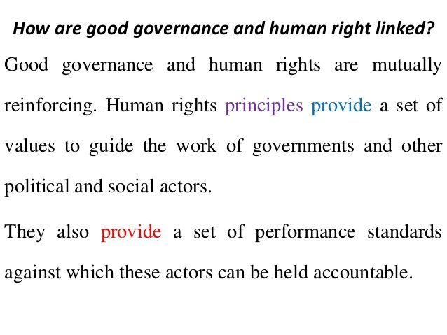 Human Rights and Governance - Bulletin Week 2