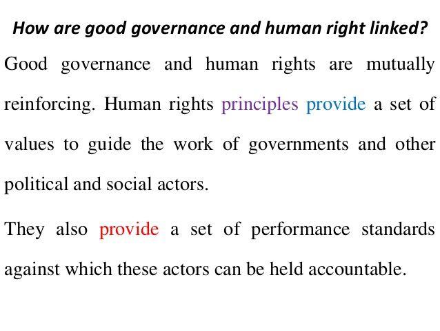 Human Rights and Governance - Bulletin Week 2